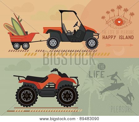 Vector modern flat design ATV