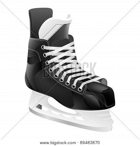 Vector Ice Hockey Skate, Isolated.