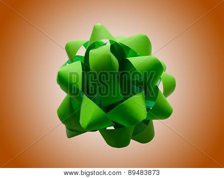 Green Gift Wrap Bow