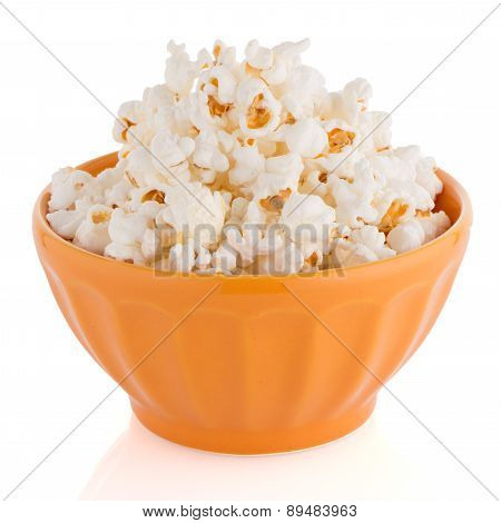 Popcorn In A Orange Bowl