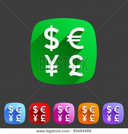 Currency exchange sign icon converter symbol money label