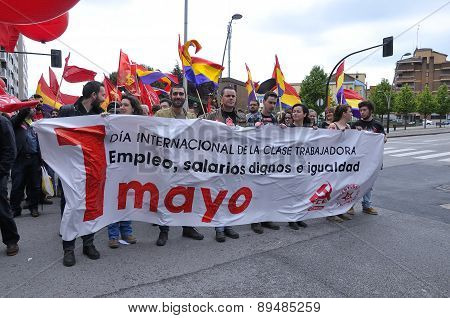 1St May Demonstration In Gijon, Spain