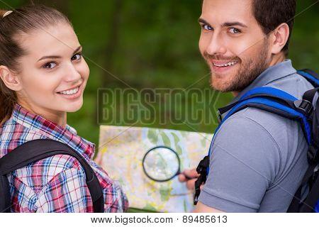 Happy Tourist Couple.