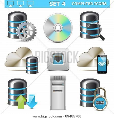 Vector Computer Icons Set 4
