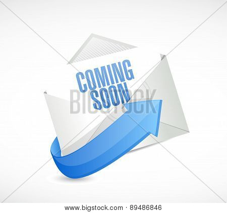 Coming Soon Mail Sign Concept