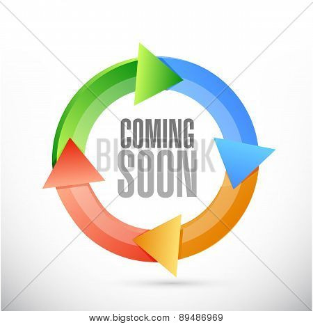 Coming Soon Color Cycle Sign Concept