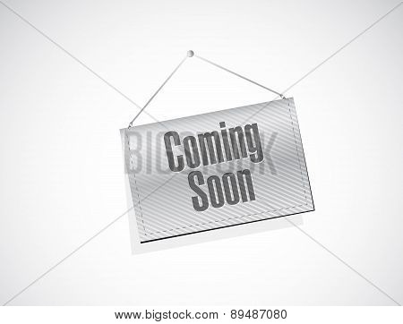Coming Soon Banner Sign Concept