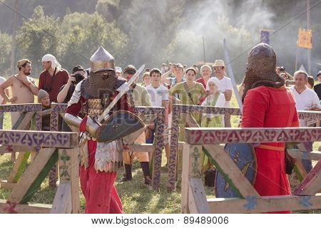 Knight Tournament At Tustan' Festival In Urych, Ukraine, August 2, 2014