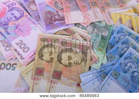 Different Currency Ukrainian Hryvnia