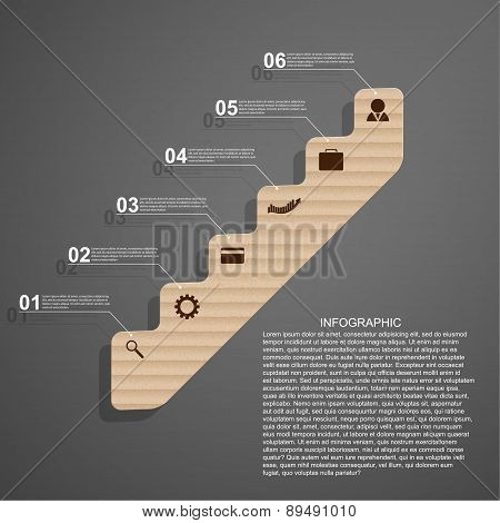 Infographic In The Form Of Steps Staircase Design Concept.
