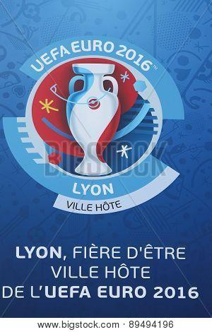 UEFA Euro Football 2016 and city host of Lyon