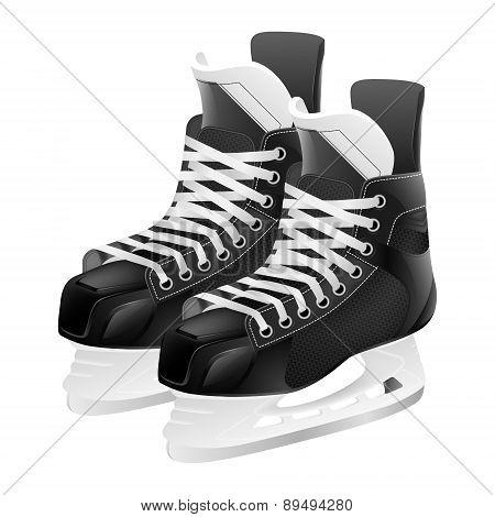 Vector Ice Hockey Skates