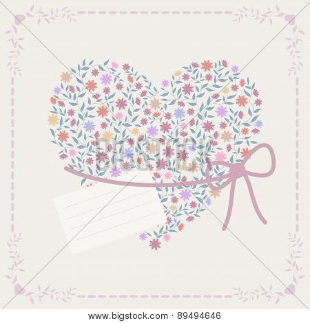 Background With Heart And Frame