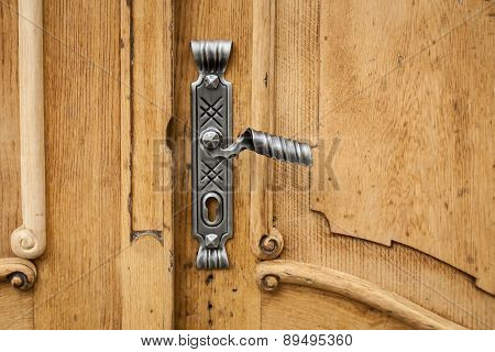 Decorative door lock.