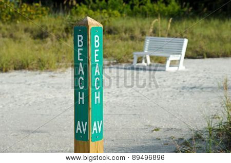 Beach Avenue Sign