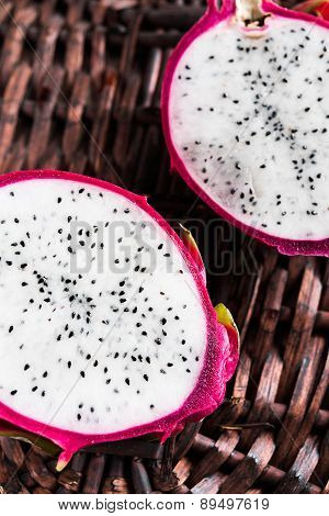 Two slices of pitahaya