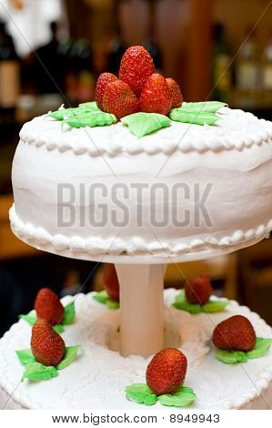 Festive Cake With Strawberries