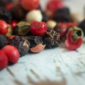 stock photo of peppercorns  - Peppercorn Blend - JPG