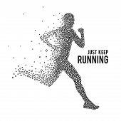 picture of sprinter  - Running Man - JPG