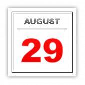 foto of august calendar  - August 29 - JPG