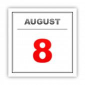 pic of august calendar  - August 8 - JPG