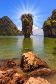 picture of james bond island  -  Bright spring sun - JPG
