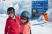pic of family ski vacation  - ZURS AUSTRIA  - JPG