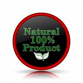 foto of 100 percent  - 100 percent natural product icon - JPG