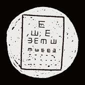 picture of snellen chart  - Eye Test Doodle - JPG