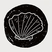 picture of beach shell art  - Shell Doodle - JPG