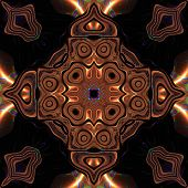 picture of celtic  - Abstract metallic bronze viking or celtic like pattern made seamless - JPG