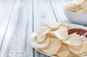 picture of chinese crackers  - Prawn Crackers  - JPG