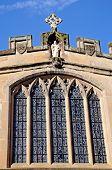 image of chapels  - St James Chapel window Warwick Warwickshire England UK Western Europe - JPG