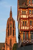 picture of frankfurt am main  - Historic center of Frankfurt am Main in Hessen Germany with the Cathedral in the background - JPG