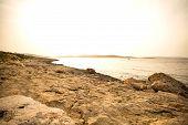 stock photo of nightfall  - Photo of nightfall in Bugibba in Malta Europe - JPG