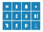 pic of contraceptives  - Condom and contraception icons on blue background - JPG