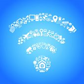 picture of internet icon  - Internet of things and cloud computing concept  - JPG