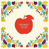 pic of vegetable food fruit  - Vector Background of Organic Healthy Food icons set Eco Food icons set Vegetables and fruits - JPG