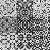 image of lace-curtain  - Set of curtain lace generated textures or backgrounds - JPG