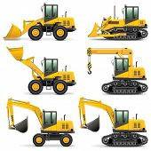 stock photo of construction machine  - Construction Machines Set 3 - JPG