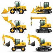 ������, ������: Vector Construction Machines Set 3