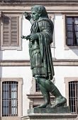 image of emperor  - Bronze statue of the Roman Emperor Constantine who issued the Edict of Milan in AD 313 - JPG