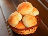 stock photo of home-made bread  - Home made small breads shot from above - JPG