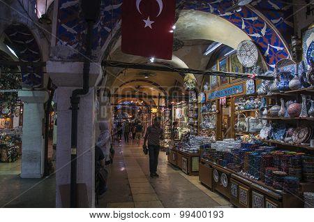 Stand of turkish merchandise