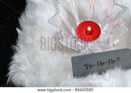 Christmas Candle and Greeting