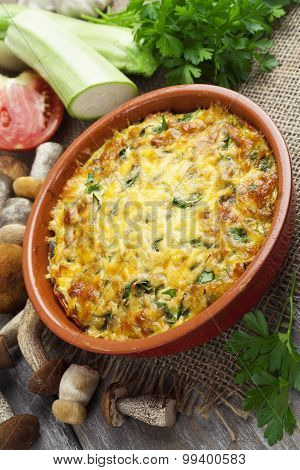 Vegetable Casserole With Mushrooms
