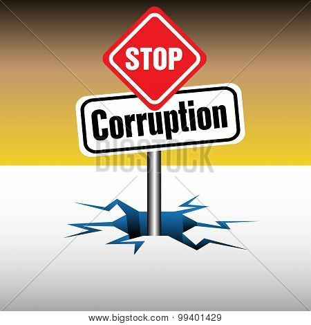 Stop corruption signpost