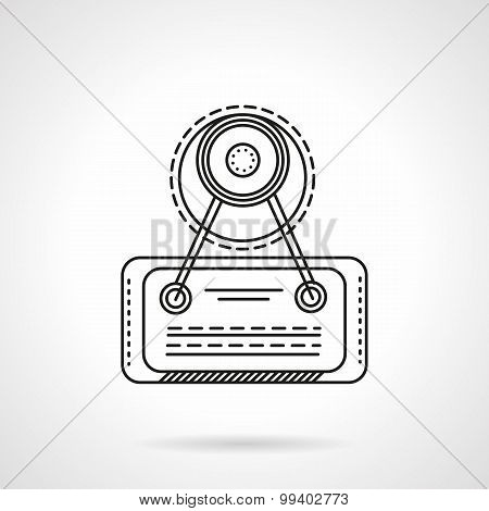 Signboard line vector icon