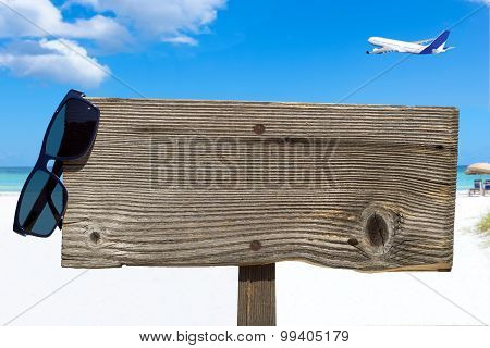 Wooden Signboard With Copy Space