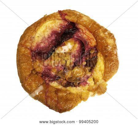 Freshly baked plum Danish pastry